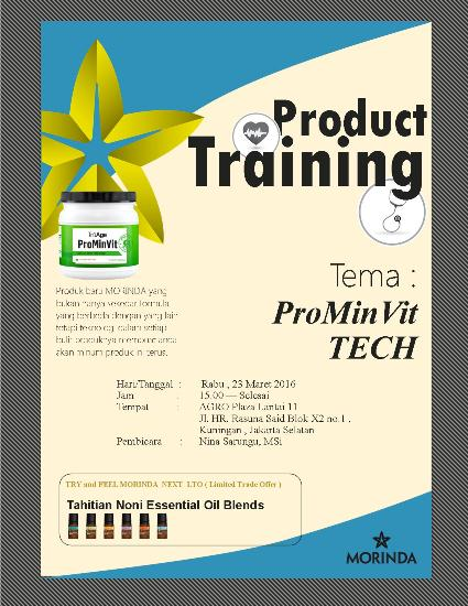 Product Training Maret 2016