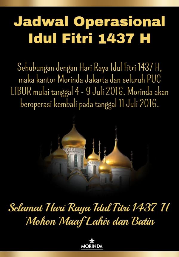 Jadwal Operasional Idul Fitri 1437H