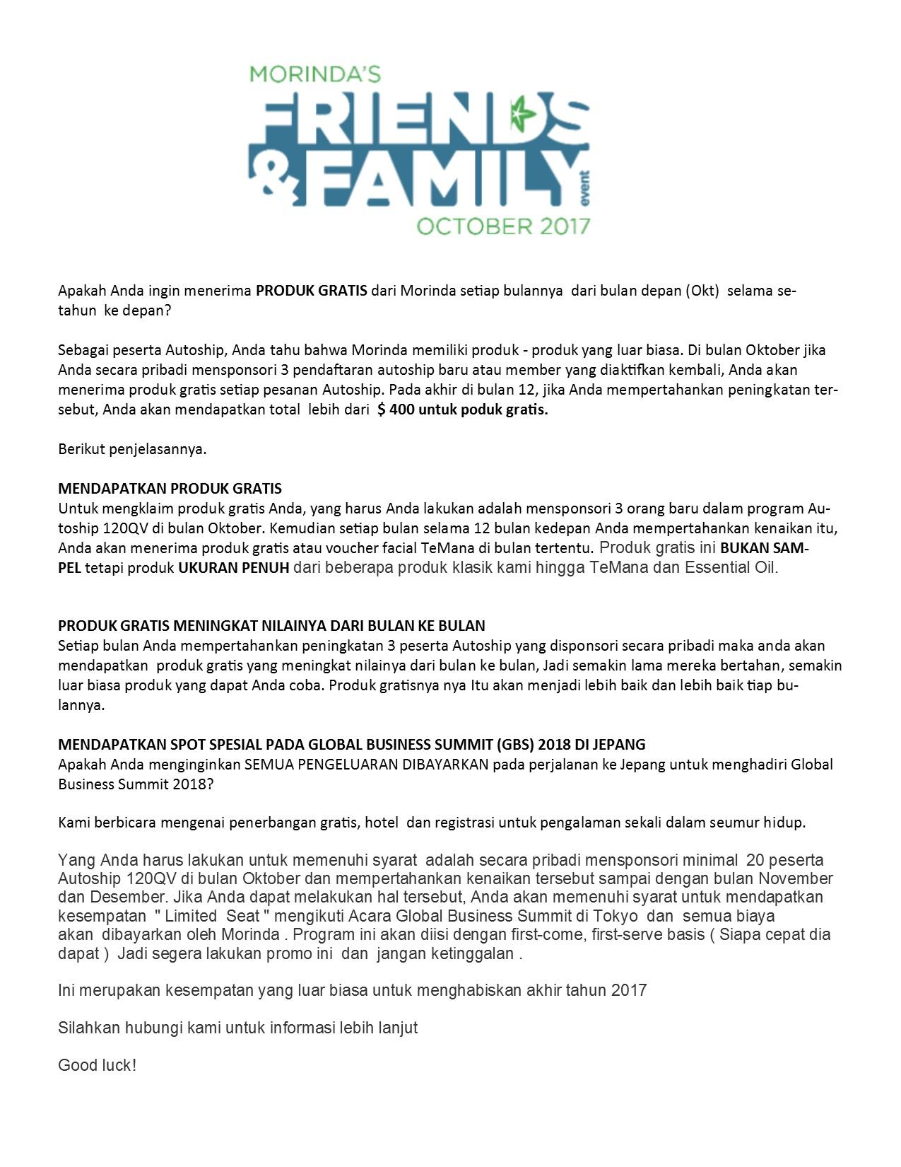 Morinda Family Promo